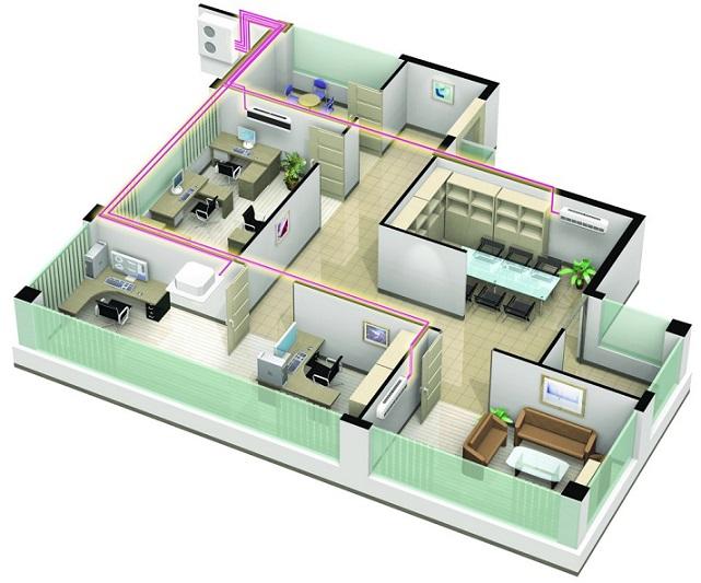 mdv klimaanlage multisplit 2 r um 35m2 35m2 inverter klimager te midea ebay. Black Bedroom Furniture Sets. Home Design Ideas